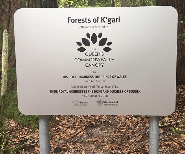 The plaque in all its glory. (*Image: supplied)*