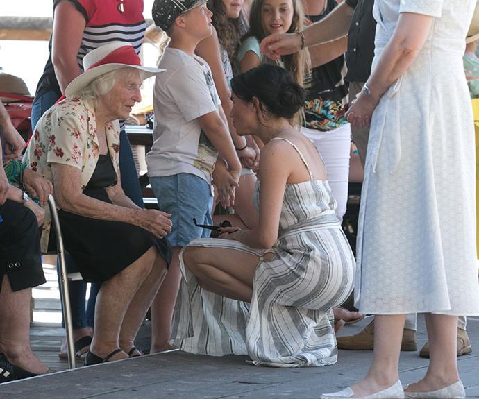 The Duchess spoke to Fraser Island locals.