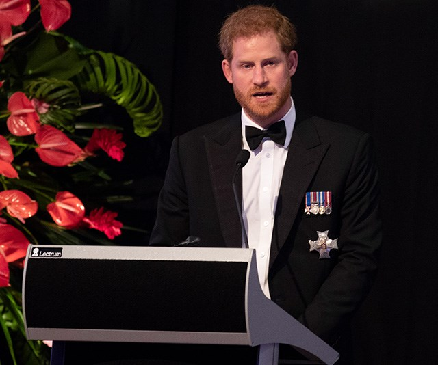 Prince Harry delivered a rousing speech during the event.