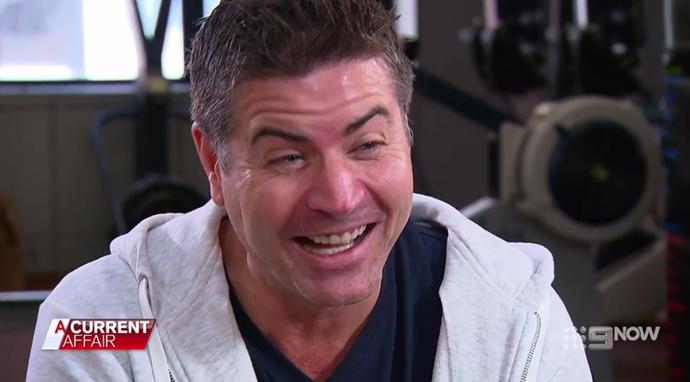 Stu got a rude awakening from a reporter on *A Current Affair*. *(Image: A Current Affair)*