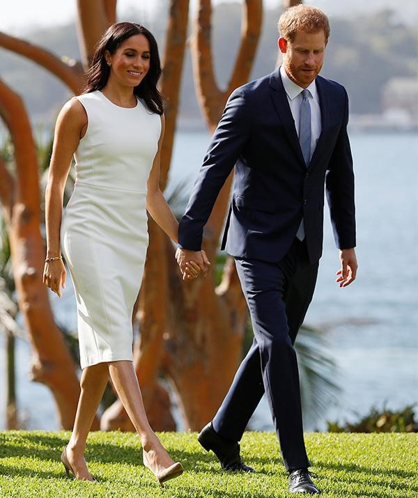 Just a week ago, Meghan's bump was hardly visible.