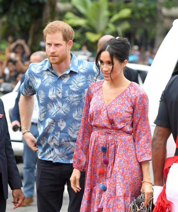 The Royal Tour continues in Fijian floral fashion today. *(Image: Getty Images)*