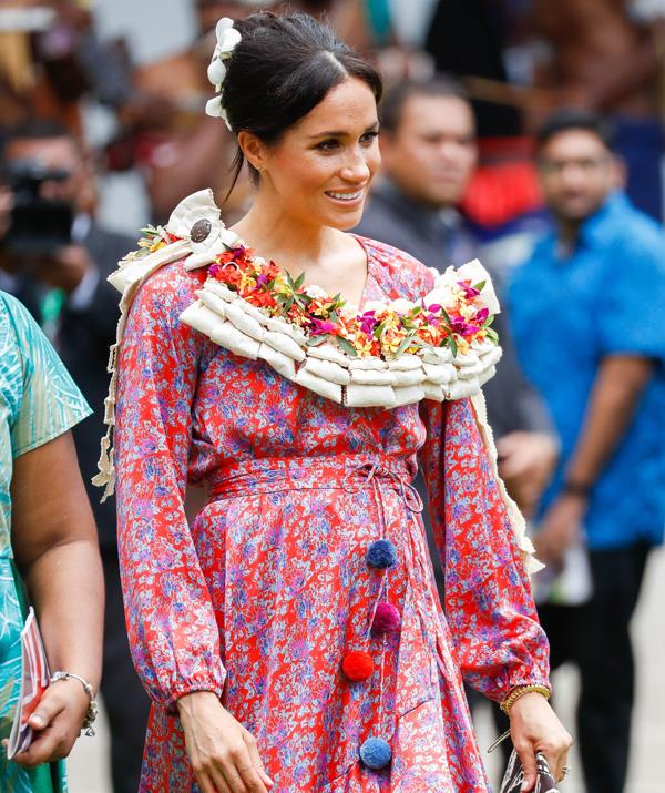 Duchess Meghan! Pom poms! Frangipani! Royal Bump! *(Image: Getty Images)*