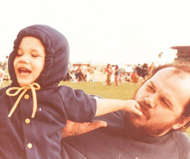 Pictured with her dad, Thomas Markle, Meghan looks as confident and charming as a toddler as she is now! *(Image: The Tig)*