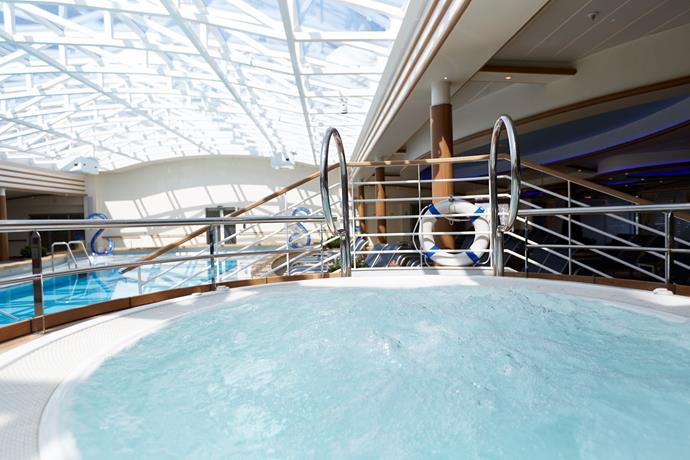 Find tranquility at sea in the adults-only Hollywood Pool Club