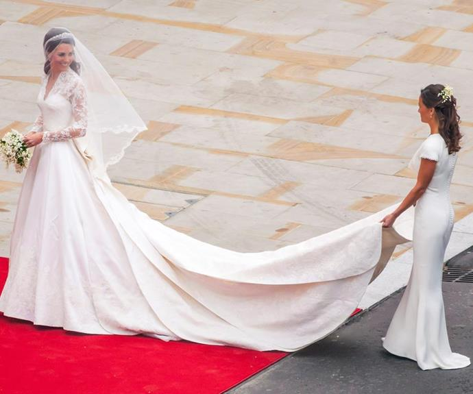 The sisters (and Pippa's derriere) became international superstars at the 2011 Royal Wedding.  *(Image: Getty Images)*