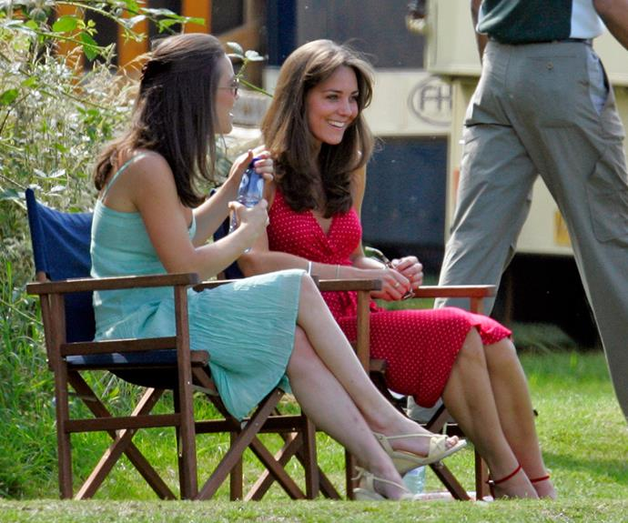 Sister bonding at the polo in 2006.  *(Image: Getty Images)*