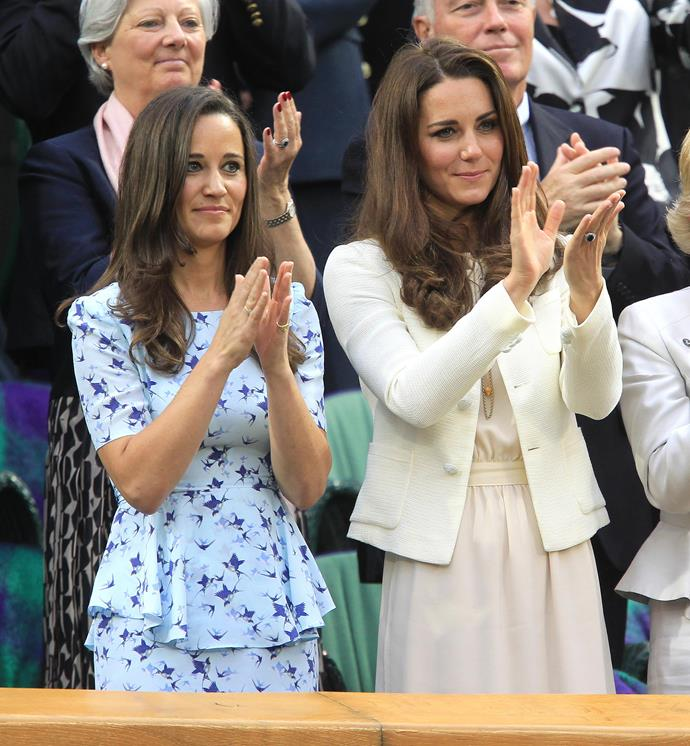 Anyone for tennis? The Middleton sisters are famously athletic (particularly when it comes to tennis) and have attended Wimbledon on many occasions. *(Image: Getty Images)*
