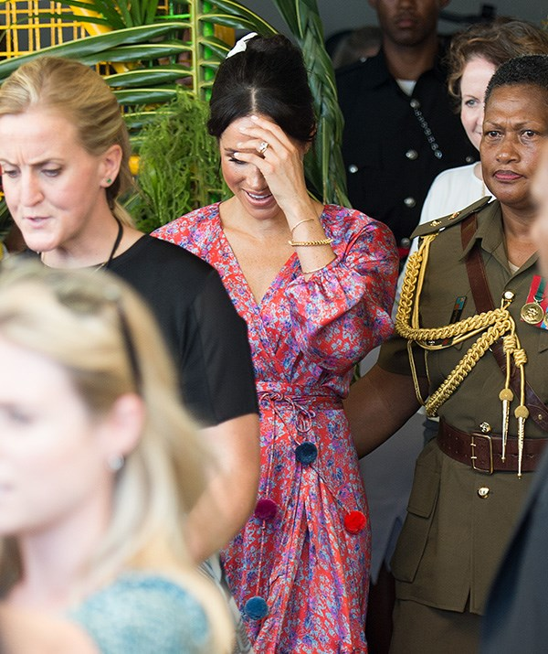 Meghan was whisked away from the public appearance early. *(Image: Getty Images)*