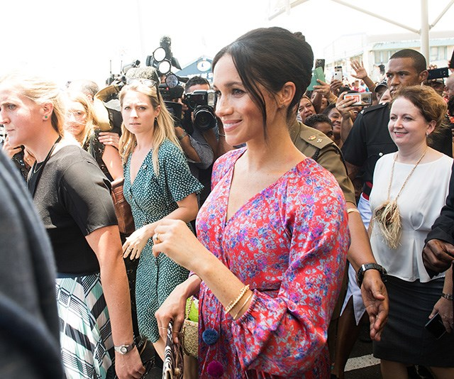 The Duchess of Sussex always draws a big crowd, but on Wednesday things could have gone too far. *(Image: Getty Images)*