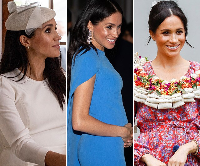 Duchess Meghan's wardrobe has been the talk of the town. *(Images: Getty Images)*