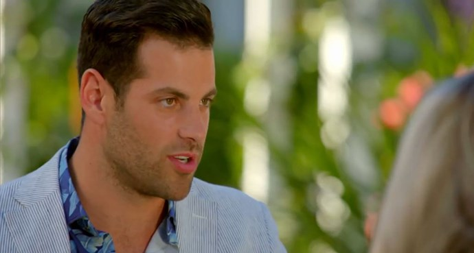 "Rob Colangelo was ""intense"" during Thursday's episode of *The Bachelor*. *(Source: Network Ten)*"
