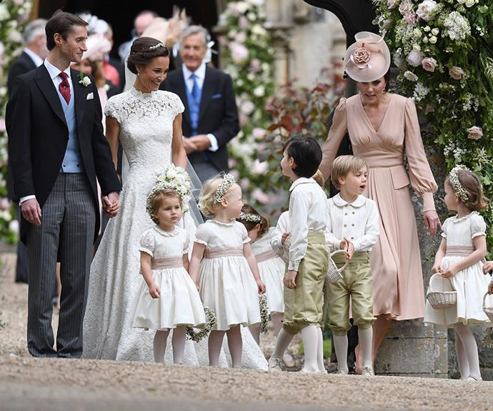 Keeping the kids in order is tougher than it looks...even for royalty! *(Image: Rex Features)*