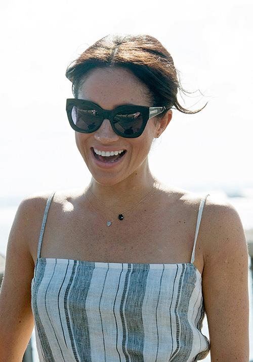 Meghan's onyx necklace does more than just look sweet on the Duchess, according to an expert. *(Image: Getty Images)*