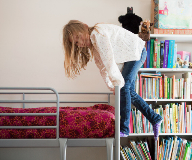 Bunk beds are not recommended for use of children under nine years of age.