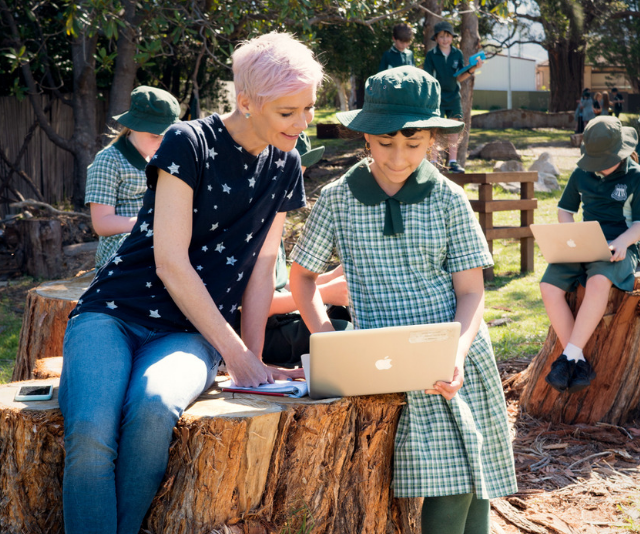 Taking lessons outdoors has huge benefits for kids and teachers.