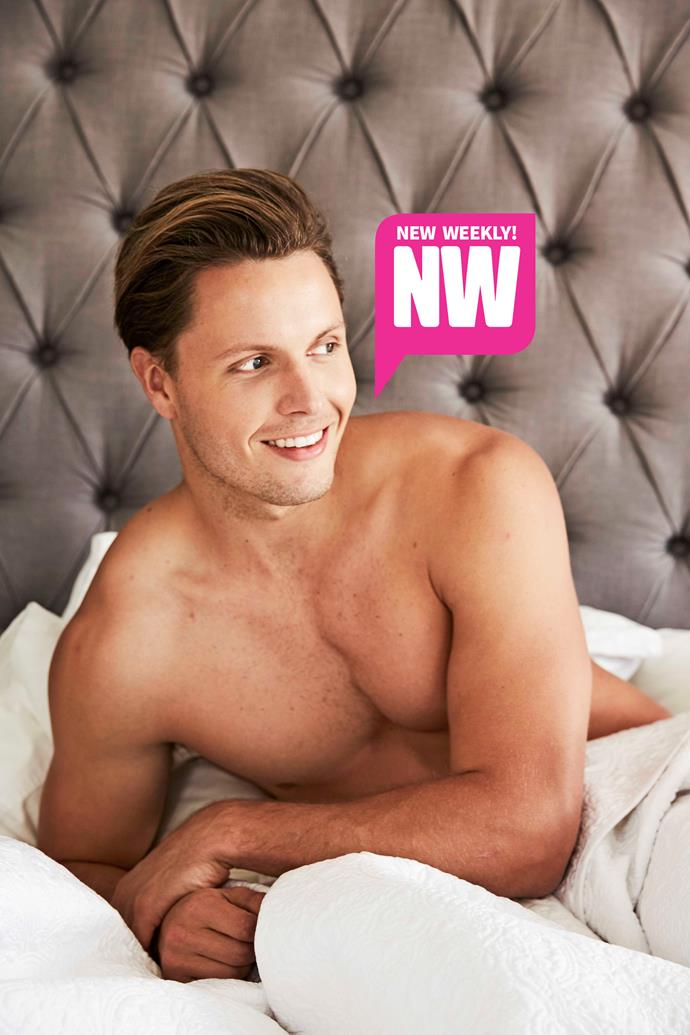 In bed with Todd King. *(Source: NW Exclusive)*