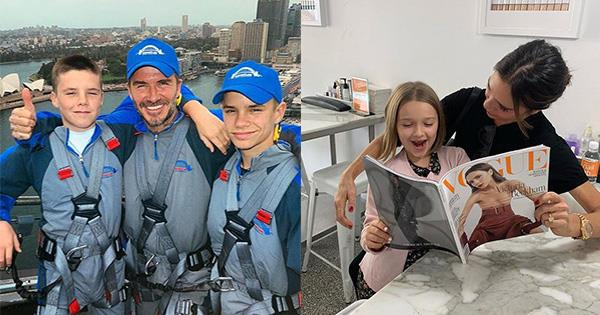 The Beckhams have been embracing Sydney life in all its glory during their trip Down Under. *(Images: Instagram / L-R @davidbeckham, @victoriabeckham)*