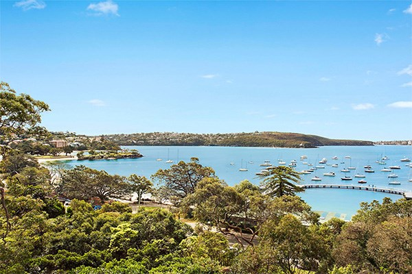 Boasting sweeping views of the harbour, the Beckhams aren't doing things by halves during their family holiday. *(Image: Belly Property)*