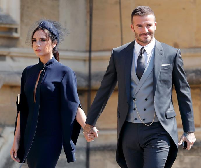 David and Victoria attended the wedding of royal pals Meghan and Harry back in May. *(Image: Getty Images)*