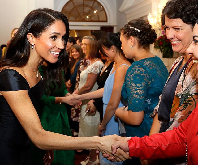 During the event, Meghan and Harry mingled with various guests at Government House. *(Image: Getty)*