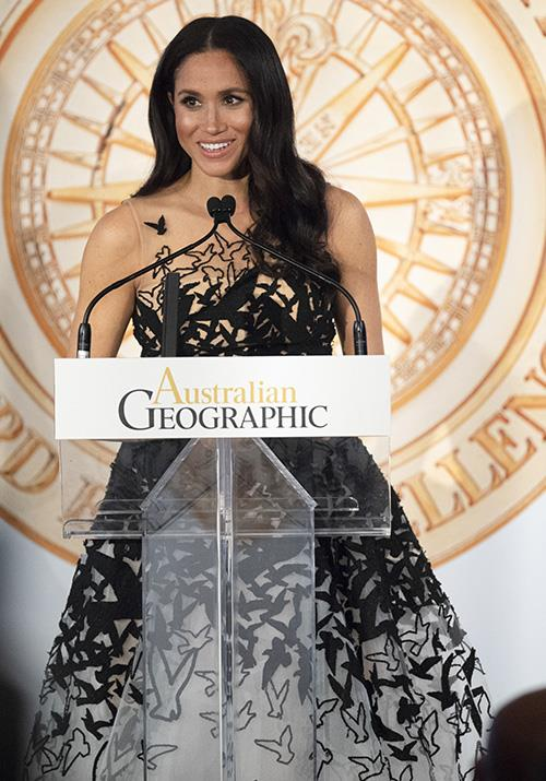 Meghan presented the award for Young Conservationist of the Year award during the event. *(Image: Getty)*