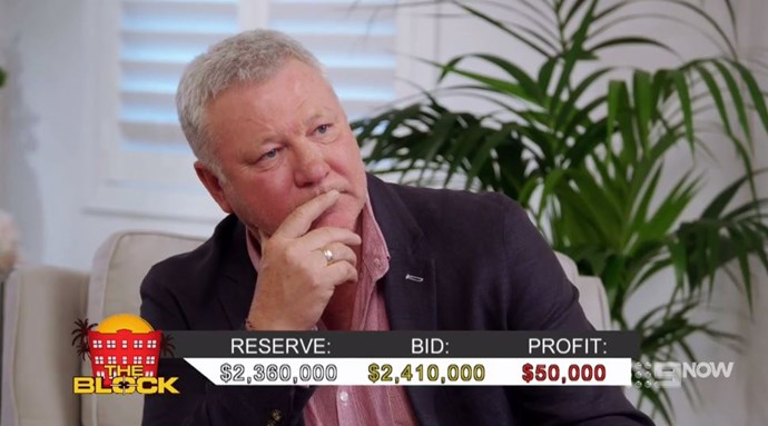 Scotty Cam during the live auction for Bianca and Carla's penthouse. *(Source: Channel Nine)*