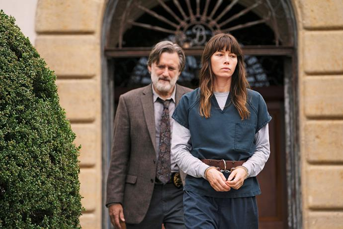 Jessica as Cora Tannetti in the first season of *The Sinner.*