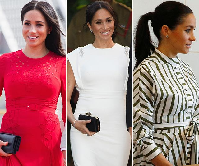 Duchess Meghan has worn some stunning, yet conventional ensembles throughout her royal tour Down Under. *(Images: Getty)*