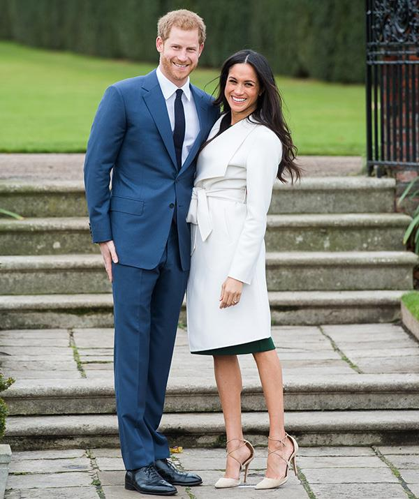 Meghan defied royal tradition by not wearing any pantyhose for her engagement shoot with Prince Harry. *(Image: Getty Images)*