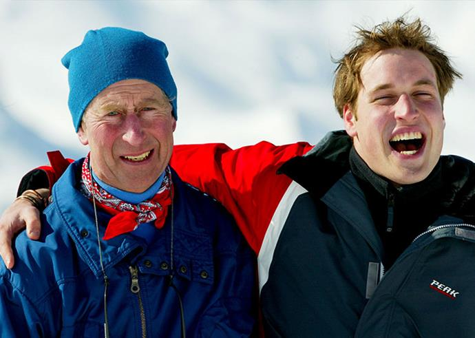 **Kings of the snow:** Before his sons married, Charles would enjoy annual father-son skip trips.