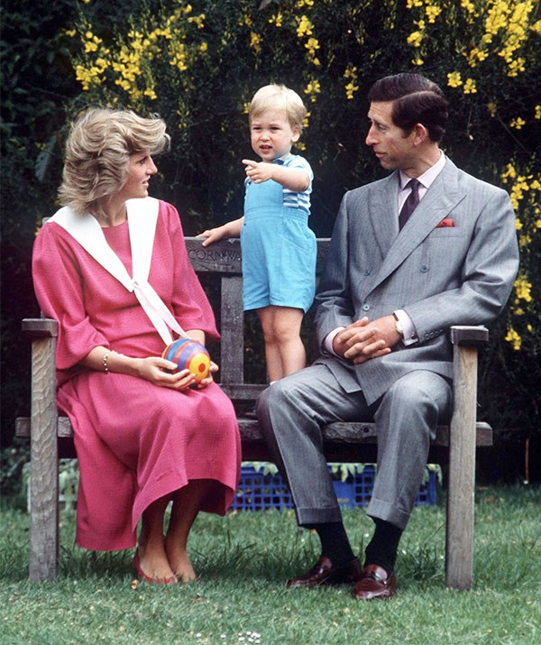 **A doting double act:** Diana and Charles would do anything for their boys.
