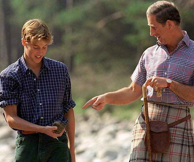 **Back to nature:** During those heartbreaking years in the aftermath of Diana's death, Charles helped his boys heal with nature, love and protection. *(Image: Getty)*