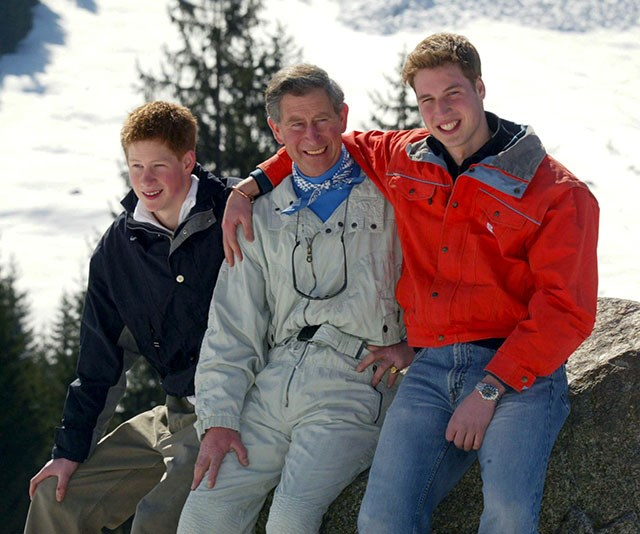 """**Unimaginable grief:** """"One of the hardest things for a parent to have to do is tell your children that your other parent has died. How you deal with that, I don't know,"""" Prince Harry has said of his dad. *(Image: Getty)*"""