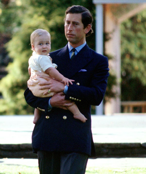**Baby's first royal tour:** Prince Charles and Prince William step out in New Zealand in 1983. *(Image: Getty)*