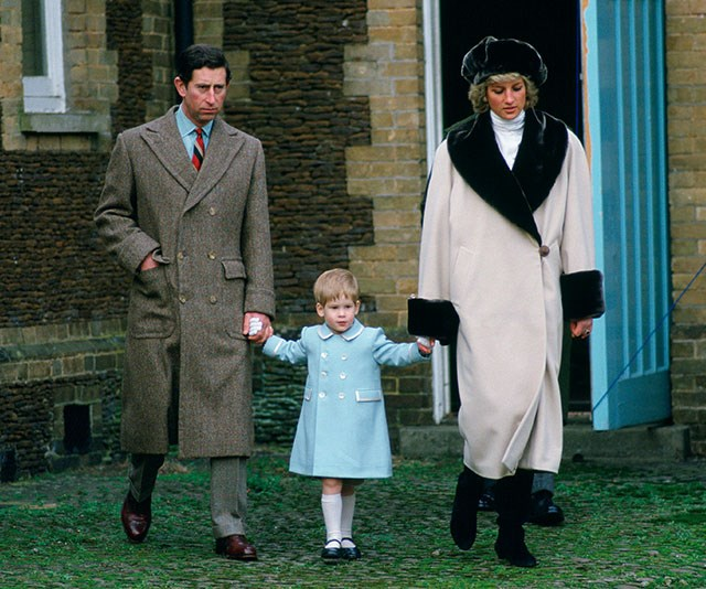 """**A royal divide:** After Diana and Charles separated in 1992, the boys shared their time between their mother and their father and Charles admitted raising a young family with the glare of the world's spotlight took its toll. """"We discuss it [co-parenting] but that's a matter for us. It's not a matter for other people to decide how our children should be educated or brought up but you can bet your bottom dollar they will all interfere and they'll say 'it should have been done this way!' that's become a national pastime,"""" he said at the time. *(Image: Getty)*"""