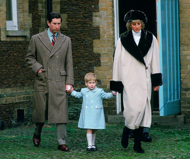 "**A royal divide:** After Diana and Charles separated in 1992, the boys shared their time between their mother and their father and Charles admitted raising a young family with the glare of the world's spotlight took its toll. ""We discuss it [co-parenting] but that's a matter for us. It's not a matter for other people to decide how our children should be educated or brought up but you can bet your bottom dollar they will all interfere and they'll say 'it should have been done this way!' that's become a national pastime,"" he said at the time. *(Image: Getty)*"