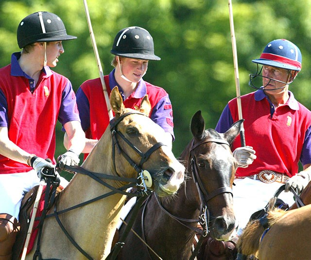 """**Horsing around:** Prince Charles has instilled his [love of polo](https://www.nowtolove.com.au/royals/british-royal-family/prince-george-princess-charlotte-polo-49103