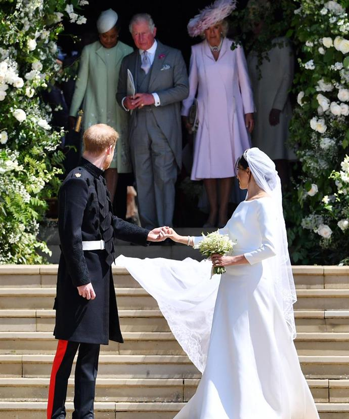 "**Father of the groom:** Of course, another huge personal milestone for Prince Charles was the [Royal Wedding](https://www.nowtolove.com.au/royal-wedding-2018|target=""_blank"") of his youngest son, Prince Harry, to Meghan Markle in May this year. *(Image: Getty)*"