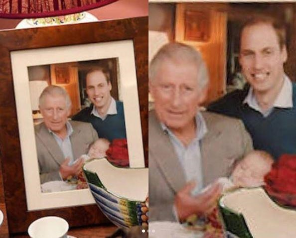 """**Three generations of Kings:** """"[They'll] look after me when I'm tottering about,"""" the royal has affectionately mused of Prince William and Duchess Catherine's three little ones. *(Image: Buckingham Palace)*"""
