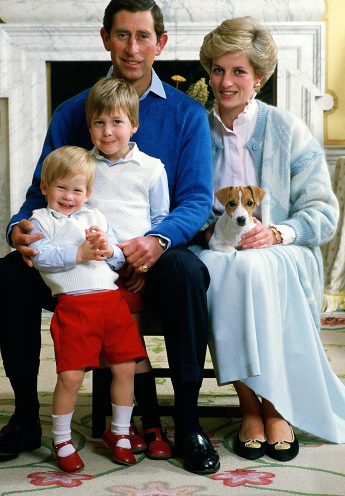 **The four of us:** Despite Prince Charles and Princess Diana's tumultuous marriage, their sons always came first. *(Image: Getty)*
