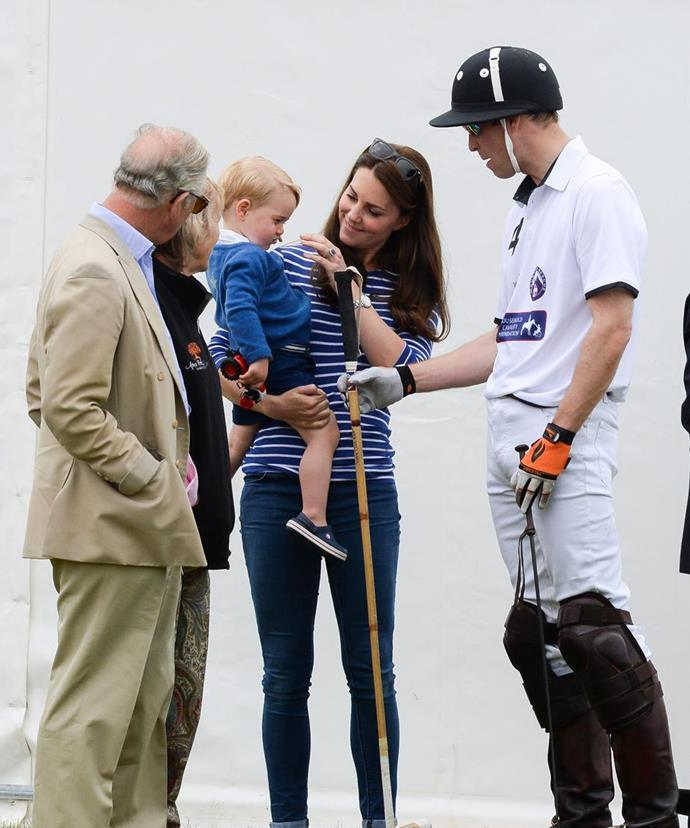 "**His pride and joy!** Becoming a grandfather to Prince George, Princess Charlotte and [Prince Louis](https://www.nowtolove.com.au/tags/prince-louis|target=""_blank"") has shown a whole new side to the future King. *(Image: Getty)*"