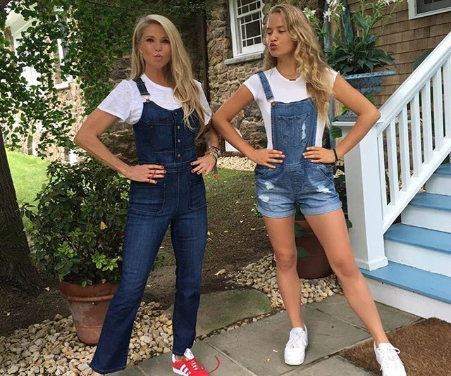 Christie Brinkley and daughter Sailor double up in denim... and demeanour!  *(Image: Instagram / @christiebrinkley)*