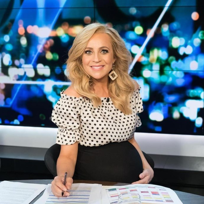 "*The Project*'s [Carrie Bickmore](https://www.nowtolove.com.au/tags/carrie-bickmore|target=""_blank"") is expecting her third child with partner Chris Walker . *(Image: Instagram @bickmorecarrie)*"