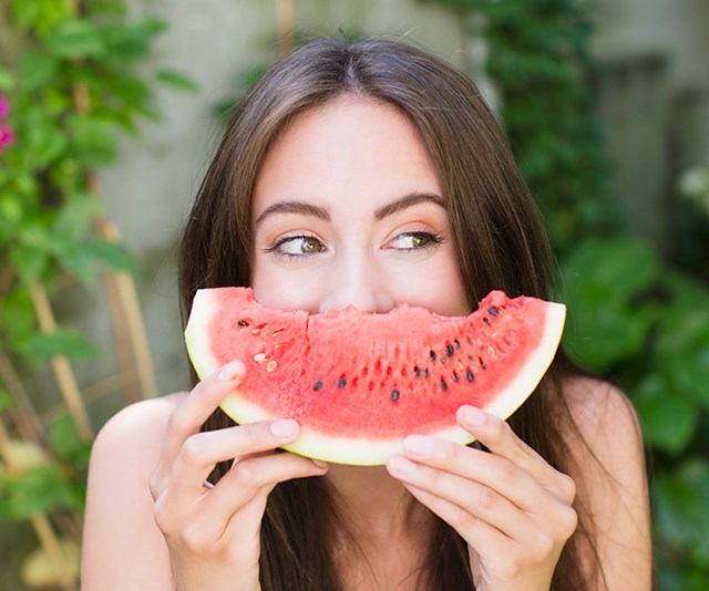 Foods rich in vitamins and minerals can help fight ageing, such as fruits like watermelons, pineapples and papayas. *(Image: Getty)*
