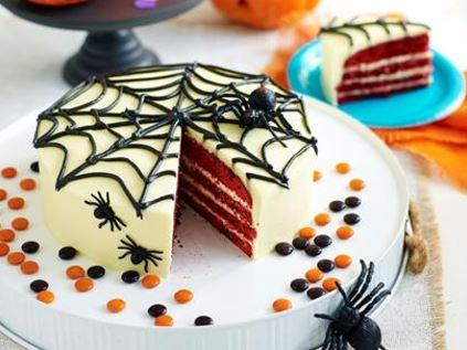 "Wacky web halloween cake, recipe via our sister site,[*Women's Weekly Food*](https://www.womensweeklyfood.com.au/recipes/wacky-web-halloween-cake-29152|target=""_blank"")]"