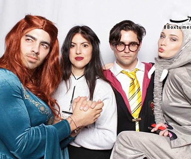 Joe Jonas and his friends mixed things up for their Halloween bash. *(Image: Instagram / @joejonas)*
