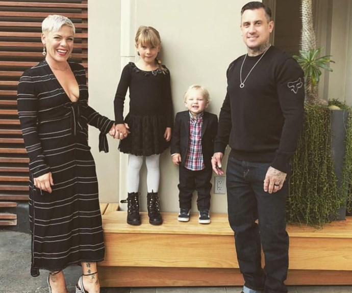 """Love getting quality time with them. Love you guys!!!!"" Carey Hart shared this adorable picture of his family on Instagram *(Image: Instagram @hartluck)*"