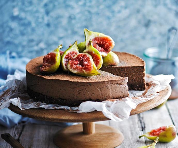 """Earl grey and chocolate cheesecake, recipe at our sister site [Women's Weekly Food](https://www.womensweeklyfood.com.au/recipes/earl-grey-and-chocolate-cheesecake-28698