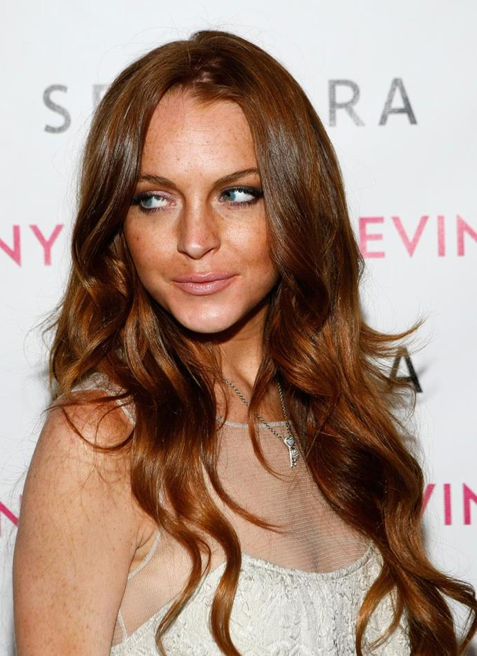 Either it's Freaky faux-glow Friday or Lindsay Lohan's been a little heavy-handed testing her own SEPHORA-stocked self-tanner. We feel you, Linds. We feel you.